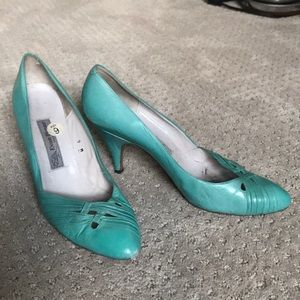 "Vintage Evan Picone 3"" heels in Tiffany blue"